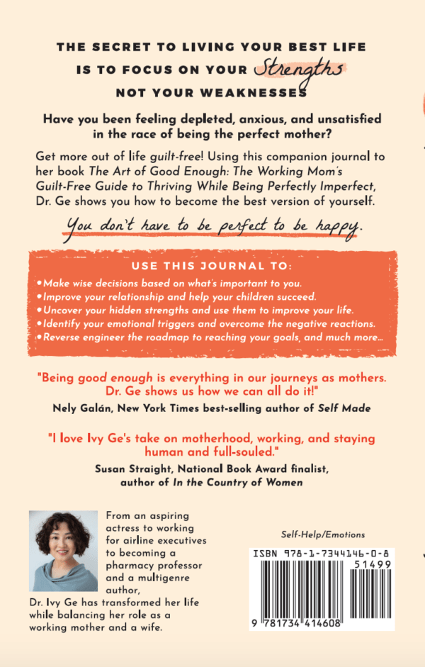 The Art of Good Enough: Life Transformation Journal back cover
